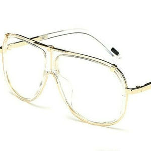 Other - MENS RECTANGULAR OVERSIZED GOLD CLEAR SUNGLASSES